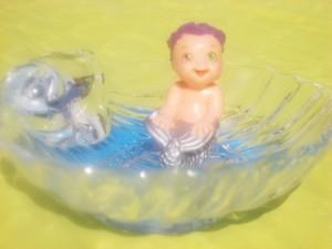 le bain de bébé